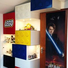 Lego®-themed Shelves With Display Areas::HOW TO