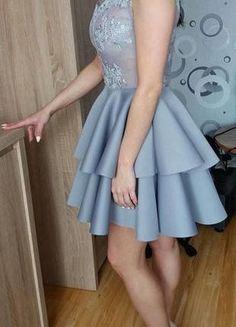 Kup mój przedmiot na #vintedpl http://www.vinted.pl/damska-odziez/krotkie-sukienki/18721096-szara-sukienka-idealna-na-wesele