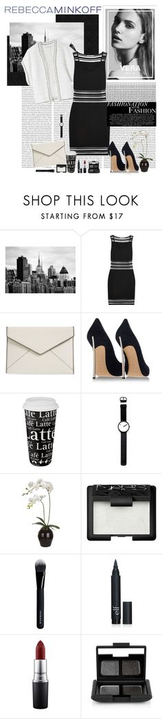 """""""In Black and white"""" by polybaby ❤ liked on Polyvore featuring Rebecca Minkoff, Casadei, Könitz, Rosendahl, Sia, NARS Cosmetics, Givenchy, MAC Cosmetics, women's clothing and women"""