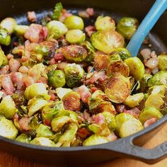 Smoky, garlicky, peppery, crunchy, these roasted brussels sprouts with garlic and pancetta are like a party in your mouth in every bite