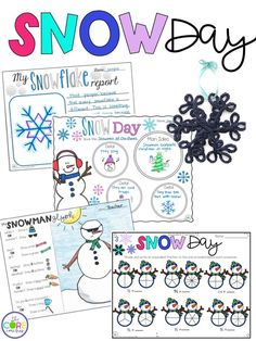 A full day of fun snow themed activities