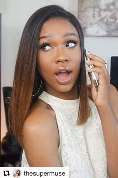 This is a Brazilian Virgin Human Hair Lace Front Wigs Ombre Straight Short Bob Wigs . We have a variety of colors, densities and shapes to choose from. Short Bob Wigs, Short Bob Hairstyles, Weave Hairstyles, Black Hairstyles, Bob Haircuts, Girl Haircuts, African Hairstyles, Hairstyle Names, Sassy Haircuts