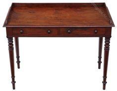 Regency Mahogany Writing Desk Or Dressing Table - Antiques Atlas