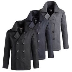 Cappotto Uomo SURPLUS PEA COAT US Marine Cappotto Corto in Lana Caban Colani