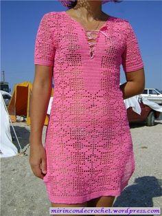 """Tunic in filet ..... I like!! """"My Corner of Crochet bello! shemi spagnoli"""