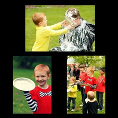 Pie throwing is a fun Halloween game. See more here http://www.the-pregnancy.net/halloween-games.html