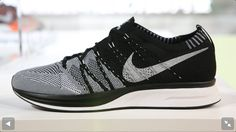 Nike flyknit trainer. Black & white