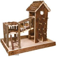 Aire de jeu pour rongeur en bois naturel Birger