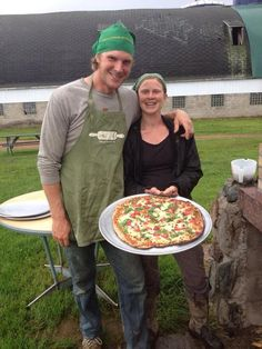 Stony Acres Farm in Wisconsin has Pizza Nights during the summer where you can eat pizza with all of the ingredients from their farm!