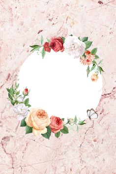Flower Background Wallpaper, Flower Backgrounds, Wallpaper Backgrounds, Iphone Wallpapers, Decorative Borders, Deco Floral, Borders And Frames, Round Frame, Flower Frame