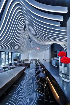 Repetition in the W Hotel Downtown, NYC // Repetici?n en el W Hotel de Nueva York. Design Hotel, Design Entrée, Lobby Design, Restaurant Design, Hotel Design Interior, Design Ideas, Design Inspiration, W Hotel, Hotel Lobby