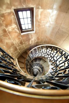 Unseen London  SPIRAL STAIRCASE A spiral staircase is seen at the former headquarters of the Midland bank at Poultry. The Grade I-listed building is regarded as one of the finest creations by the eminent British architect Sir Edwin Lutyens.