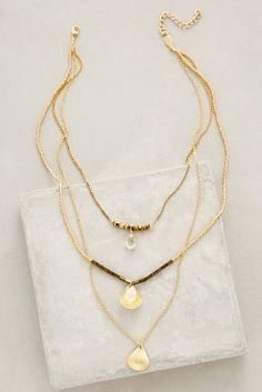 Anthropologie Halfshell Layered Necklace #anthrofave