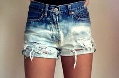 ombre acid-wash shorts might be the cutest things… ever