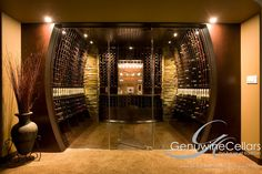 Contemporary | Wine Cellar | Design | Dream Home | Luxury | Wine www.genuwinecellars.com