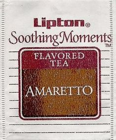Tea Bag: Amaretto, 215-2EP 5-02151-02 (Lipton, United States of America) (Soothing Moments Flavored Tea) Col:TB-US-6185,Lip:215-2EP 5-02151-02