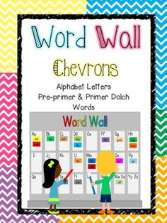 This is an entire Chevron-themed word wall set - perfect to make a Word Wall in your classroom!It includes:*Alphabet letter cards with picture cues*Pre-primer and Primer Dolch word cards
