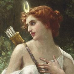 Guillaume Seignac - Diana the Huntress - paintings of Diana (Artemis) - Wikimedia Commons Renaissance Kunst, Renaissance Paintings, Artemis Aesthetic, Aesthetic Art, Potnia Theron, Artemis Goddess, Artemis Art, Moon Goddess, Goddess Art