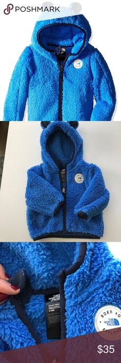 Baby north face jacket Excellent condition. Pet/smoke free home! Baby north face, 3-6 month plush hoodie jacket! No rips/stains/holes. Super warm and comfortable for a baby! The North Face Jackets & Coats