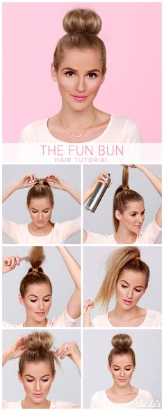 The Fun Bun Hair Tutorial <3