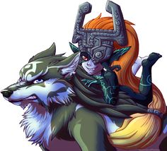 The Legend of Zelda - Midna and Wolf Link by Anniefeatherw8