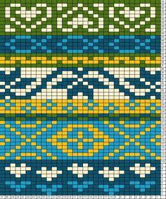 Tricksy Knitter Charts: folk scarf motif2