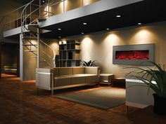 If you're looking for inspiration, our beveled steel faced fireplaces are the perfect fit. Available in an assortment of fashionable designer colors. Comes with an LED ember log set and three colors of fire glass media. #homedecor #interiordesign #contemporaryfireplace #fireplace #ventlessfireplace #ventless #modern #contemporary #modernhome #home #fireplaceideas #electricfireplace #moderndesign #remodeling