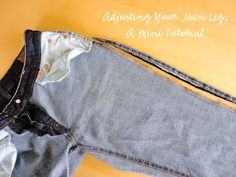 Taking in your jean leg. Mini tutorial.-this is the best one I have found so far to work for me.
