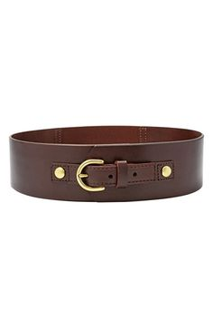 Fossil+Wide+Leather+Belt+available+at+#Nordstrom