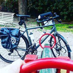 Día 17. Que contenta se pone mi bicicleta cuando la llevo al parque a jugar. #30diasenbici #bicicleta