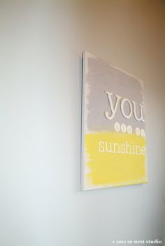 you are my sunshine canvas wall art by reneststudio on Etsy, $45.00