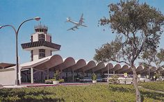 Oakland International Airport postcard, 1960s