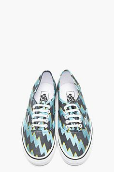 KENZO Blue Canvas Vans Edition Thunder Sneakers