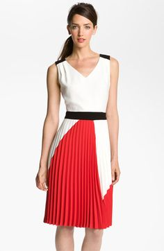 I apparently am going thru a pleated phase. Trina Turk 'Geometric' Colorblock Dress