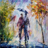 Rainy Weather by Leonid Afremov by Leonidafremov