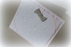 Pink & White Embossed Sparkle Christmas Card   Little Angel Card Creations   madeit.com.au