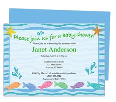 Baby Shower Invitations : SplishSplash Fishies Printable DIY Baby Shower Template