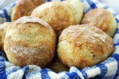 No Knead Crusty Rolls Best Bread I ever made,, yet also the easiest bread I ever made.  Love this recipe.