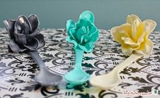 Plastic Spoon Roses DIY Recycle Craft