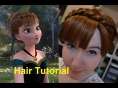 Disney's Frozen - Anna Coronation Hair - this is a really good one! Frozen Hairstyles, Braided Hairstyles, Wedding Hairstyles, Anna Frozen, Disney Frozen, Anna Hair, Silver White Hair, Disney Makeup, Wig Styles