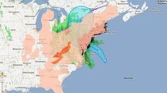Stay Safe East of USA! Google crisis map of Hurricane Sandy