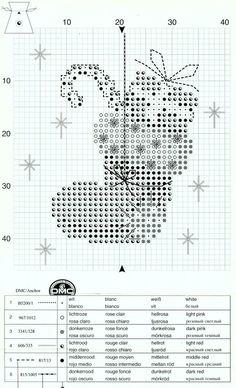 Cross-stitch Christmas Sachet Sets, part 10... Christmas Stocking Sachet, Chart Page, Page 2/2a, PN-0145603:
