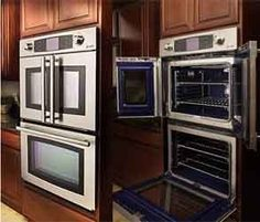 French door ovens. I could live with this :) sooo different !! Have never seen this before !