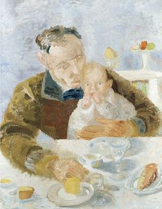 Winifred Nicholson, Father and Son, 1927, oil on canvas, 88 x 67, private collection.