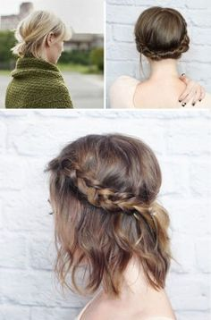 Short Hair Do's / 10 Quick and Easy Styles Short Hair Dos, Short Hair Styles Easy, Medium Hair Styles, Short Haircut, Bad Hair, Hair Day, Diy Hairstyles, Pretty Hairstyles, Hair Hacks