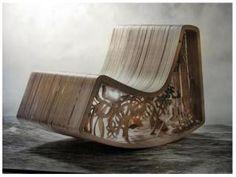 """""""Rocking Beauty Chair"""" {StudioBility} polycarbonate, contreplaqué, aluminium découpe au jet d'eau"""