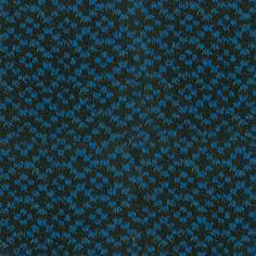 Famous NY Designer Brilliant Blue Wool-Polyester Boucle - Wool - Fashion Fabrics
