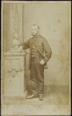 www.pastonpaper.com | Carte de Viste of Unidentified Male, Warrington, 1850s Evolution Of Fashion, Men's Hair, Man Photo, Facial Hair, Old Photos, Menswear, Victorian, Statue, History