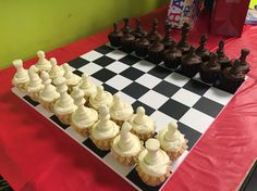 My mom made these chess piece cupcakes for my brother's birthday