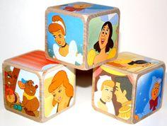 Cinderella Children's Wooden Baby Blocks Baby by Booksonblocks, $17.00